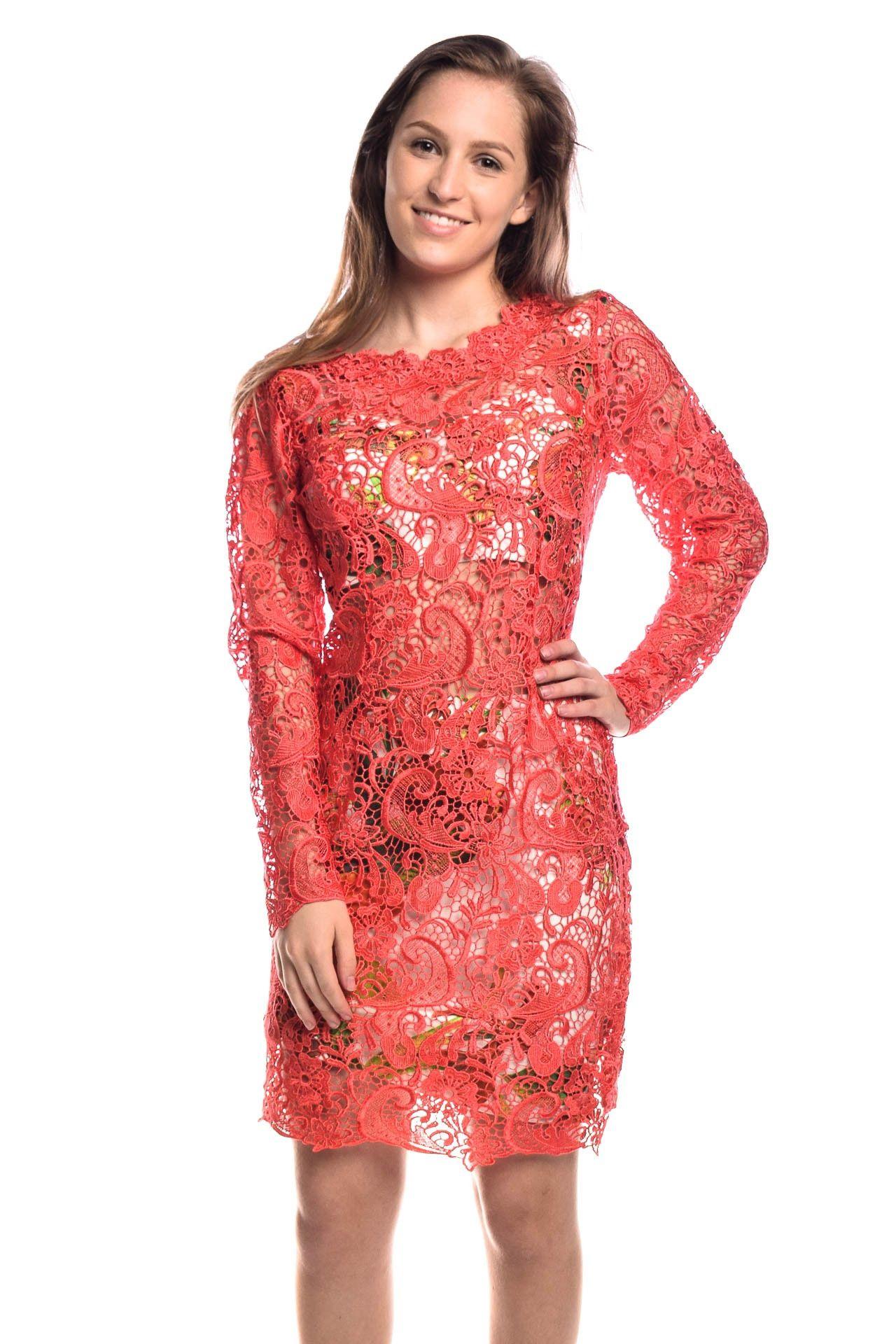 Fabulous Agilità - Conjunto Vestido Renda Coral - Foto 1