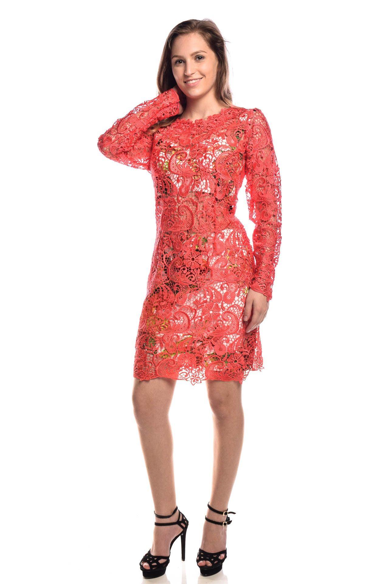 Fabulous Agilità - Conjunto Vestido Renda Coral - Foto 3