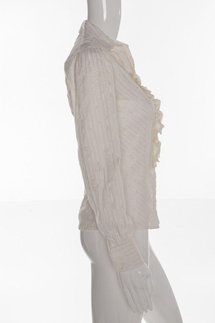 Zara - Camisa Babado Stretch - Foto 3
