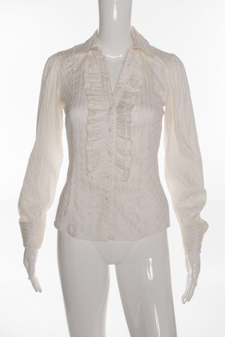 Zara - Camisa Babado Stretch - Foto 1