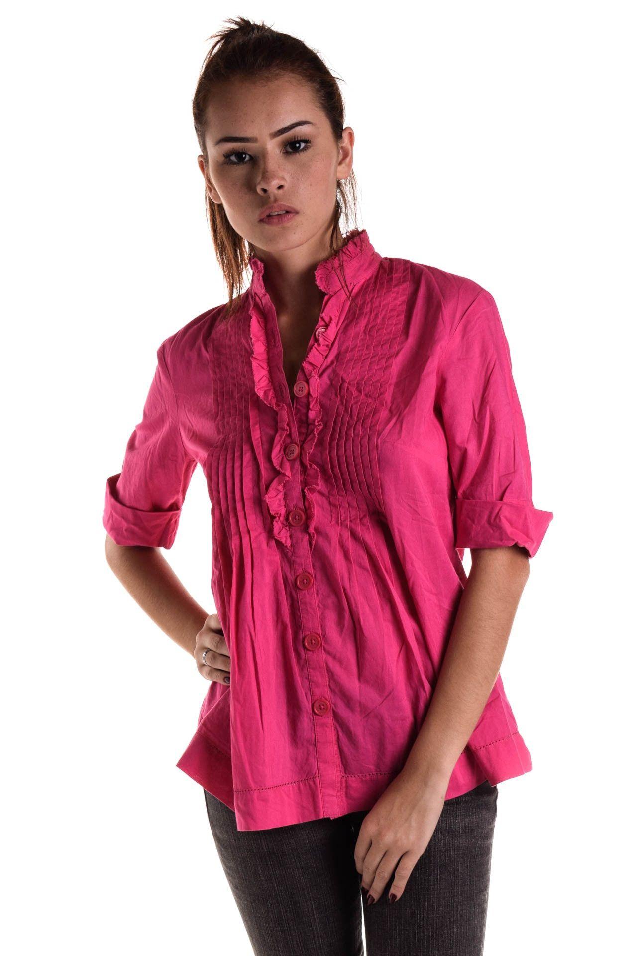 Michael Kors - Camisa Rosa Drapeada - Foto 1