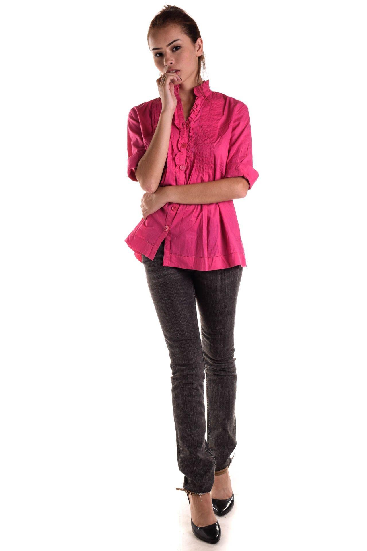Michael Kors - Camisa Rosa Drapeada - Foto 3
