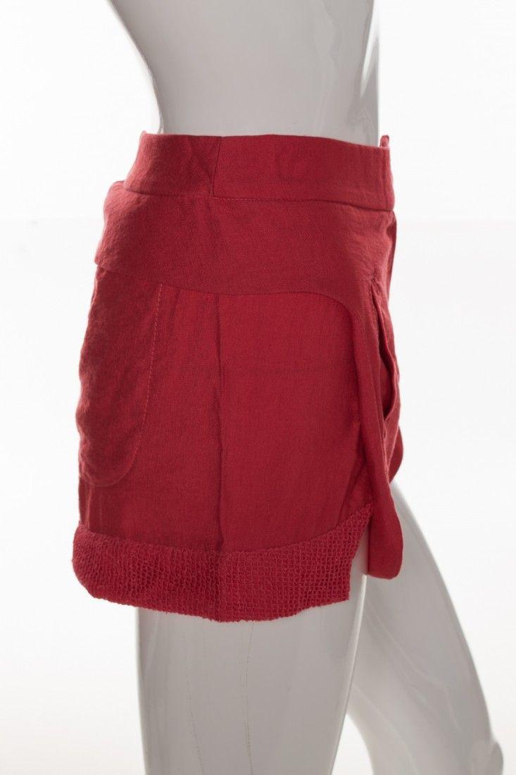 Carol Arbex - Shorts Vermelho Fenda - Foto 3