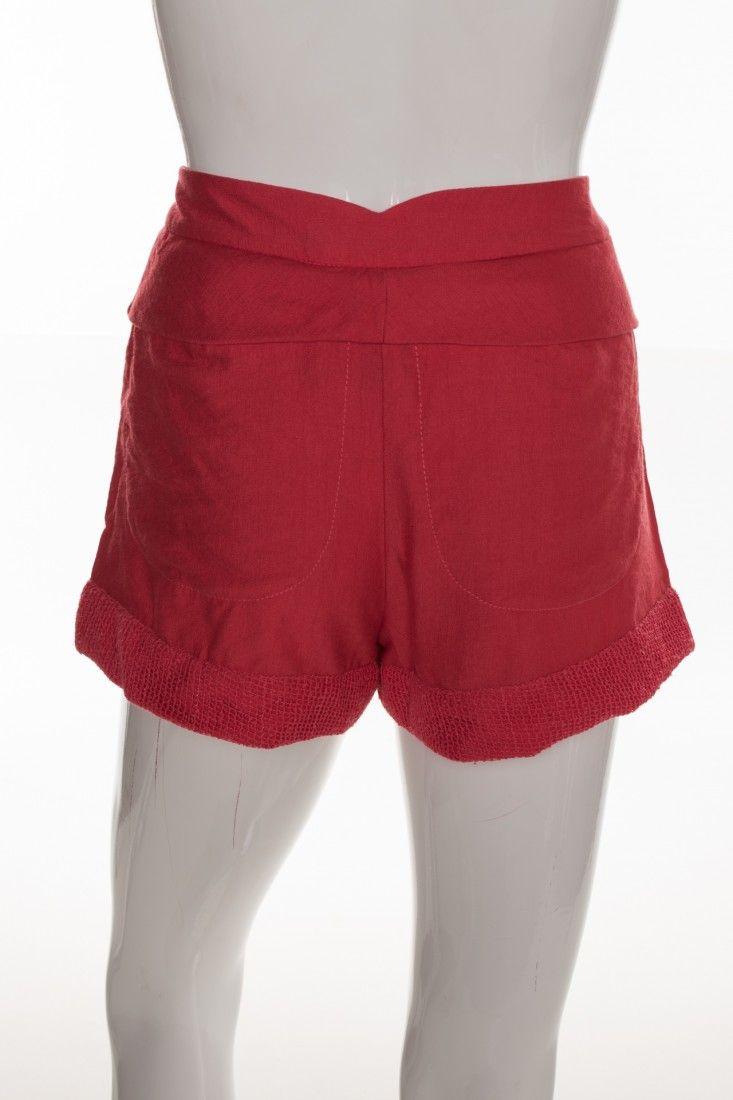 Carol Arbex - Shorts Vermelho Fenda - Foto 2