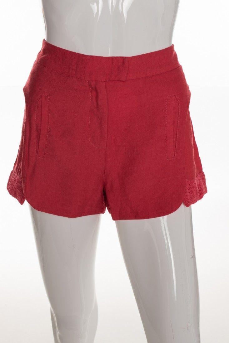 Carol Arbex - Shorts Vermelho Fenda - Foto 1