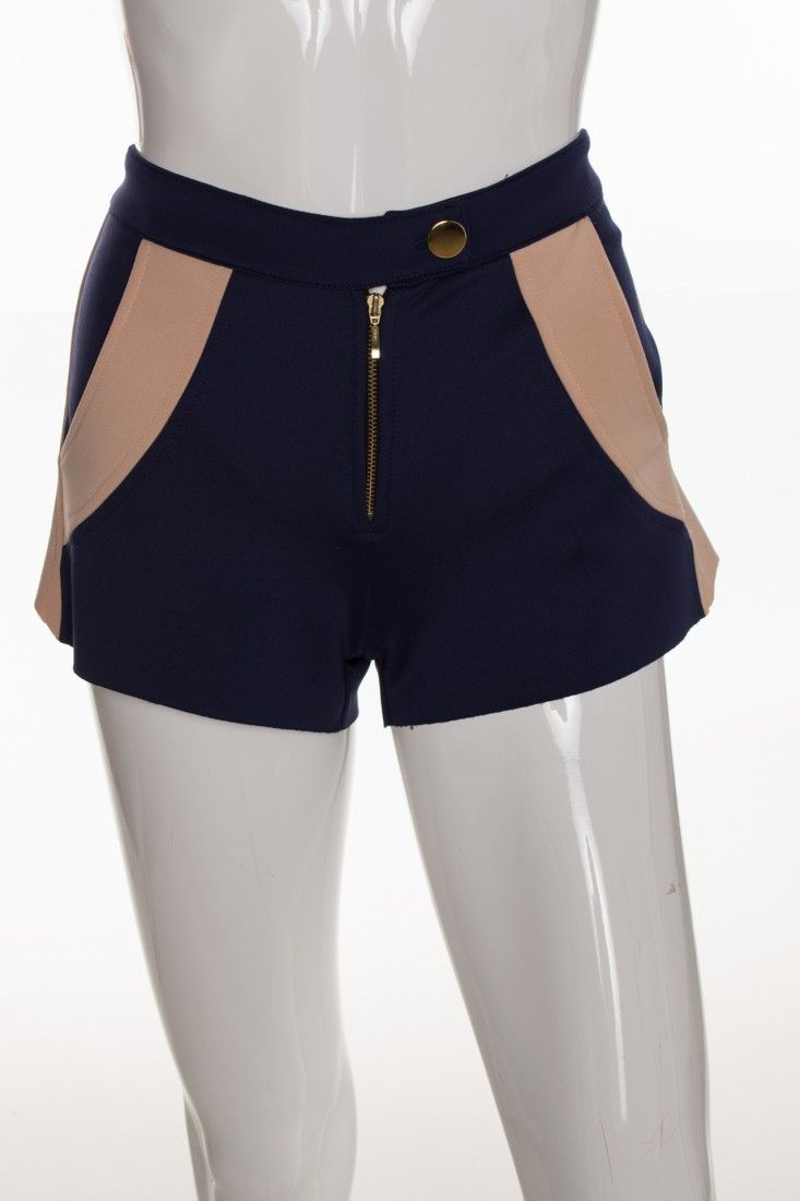 Carol Arbex - Shorts Pardo Azul - Foto 1