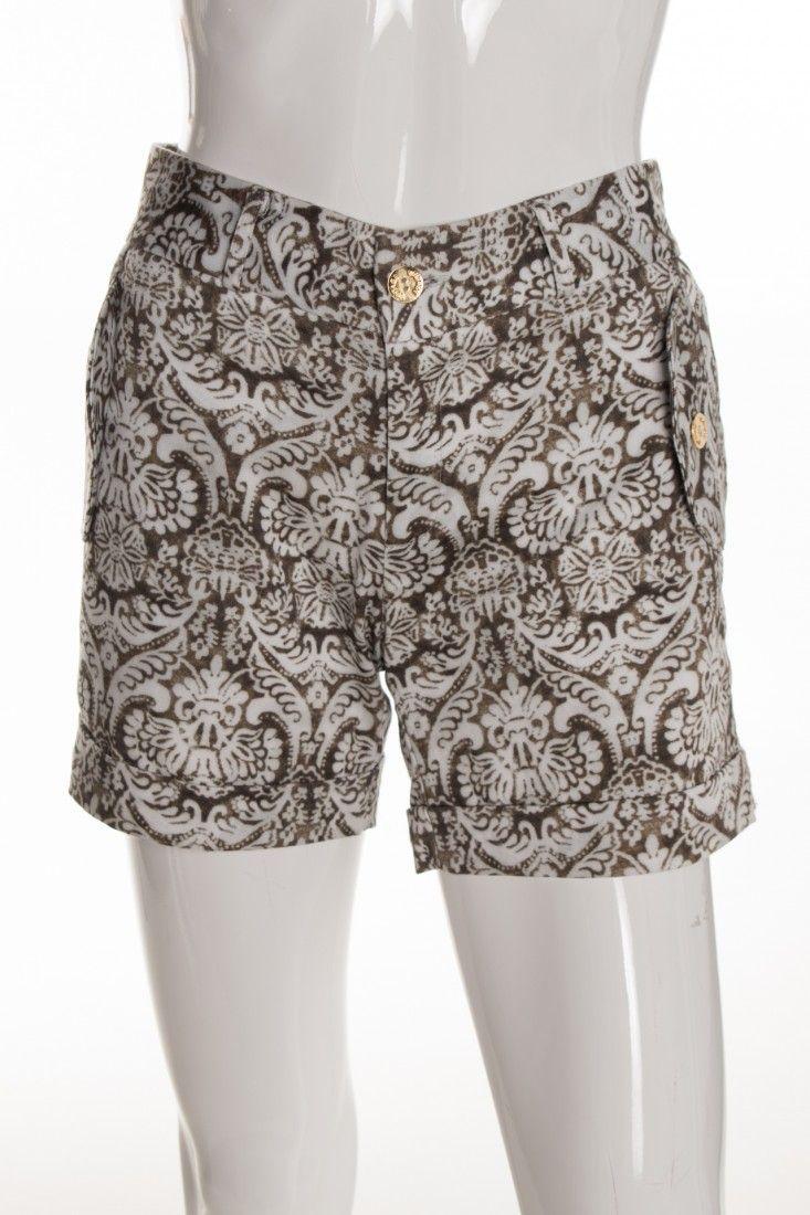 Vintage - Shorts Alfaiataria Estampa - Foto 1