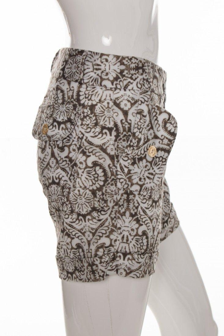 Vintage - Shorts Alfaiataria Estampa - Foto 3
