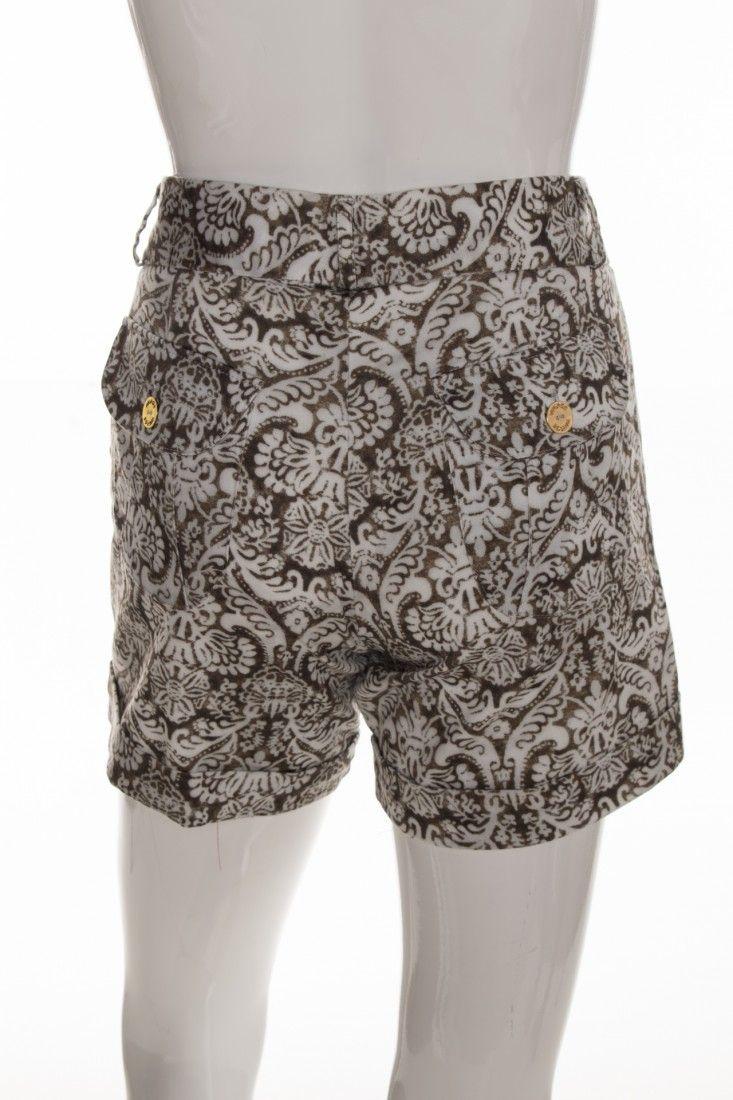 Vintage - Shorts Alfaiataria Estampa - Foto 2