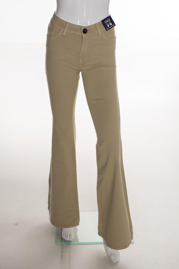 Jeanseria - Calça Jeans Bege - Foto 1