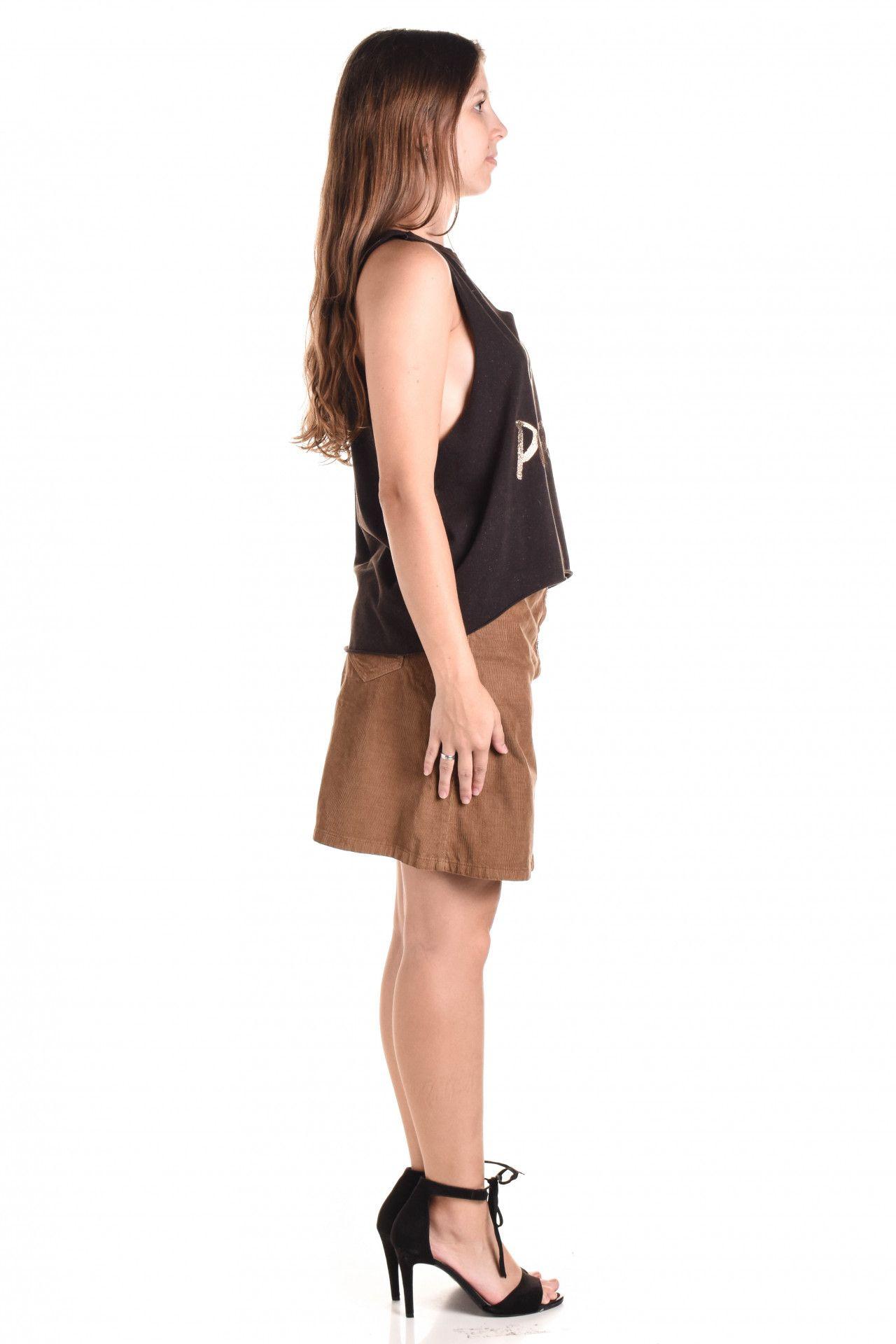 Damyller - Blusa Marrom Estampa  - Foto 4