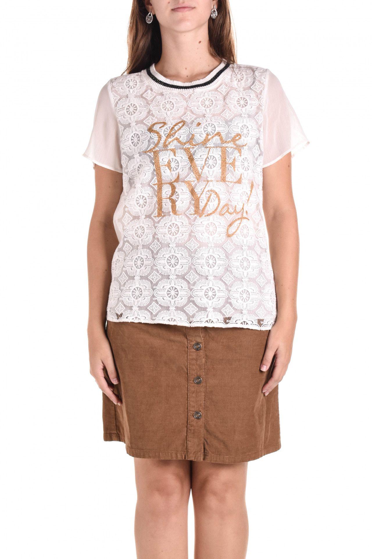 Damyller - Camiseta Branca Renda  - Foto 2
