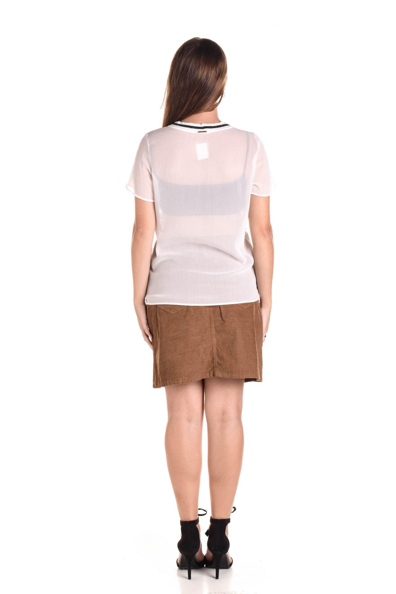 Damyller - Camiseta Branca Renda  - Foto 5