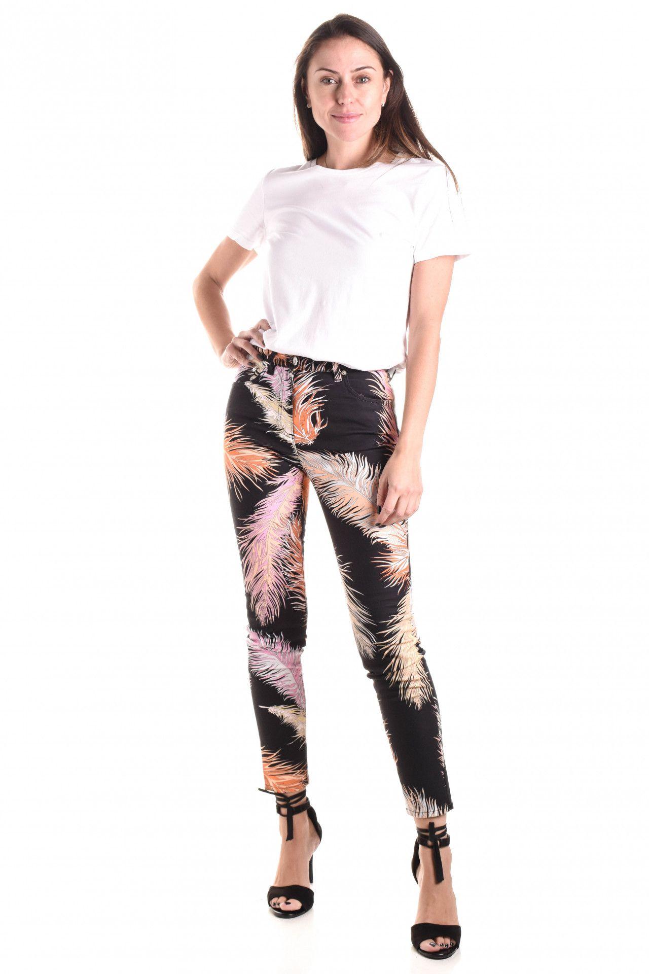 Emilio Pucci - Calça Jeans Estampada  - Foto 1