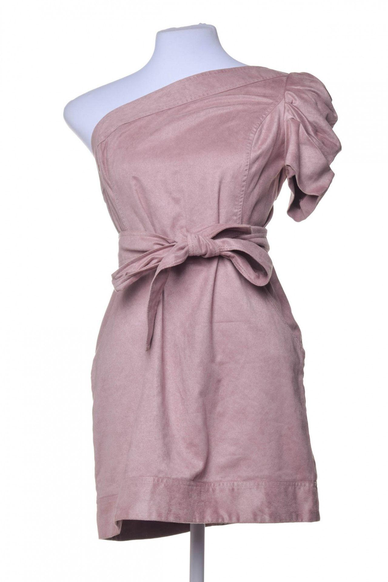 Litt - Vestido Suede Rosê - Foto 1