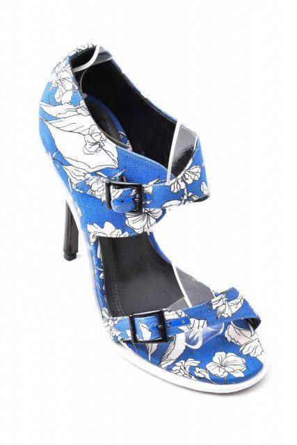 Sandália Estampa Azul Corello