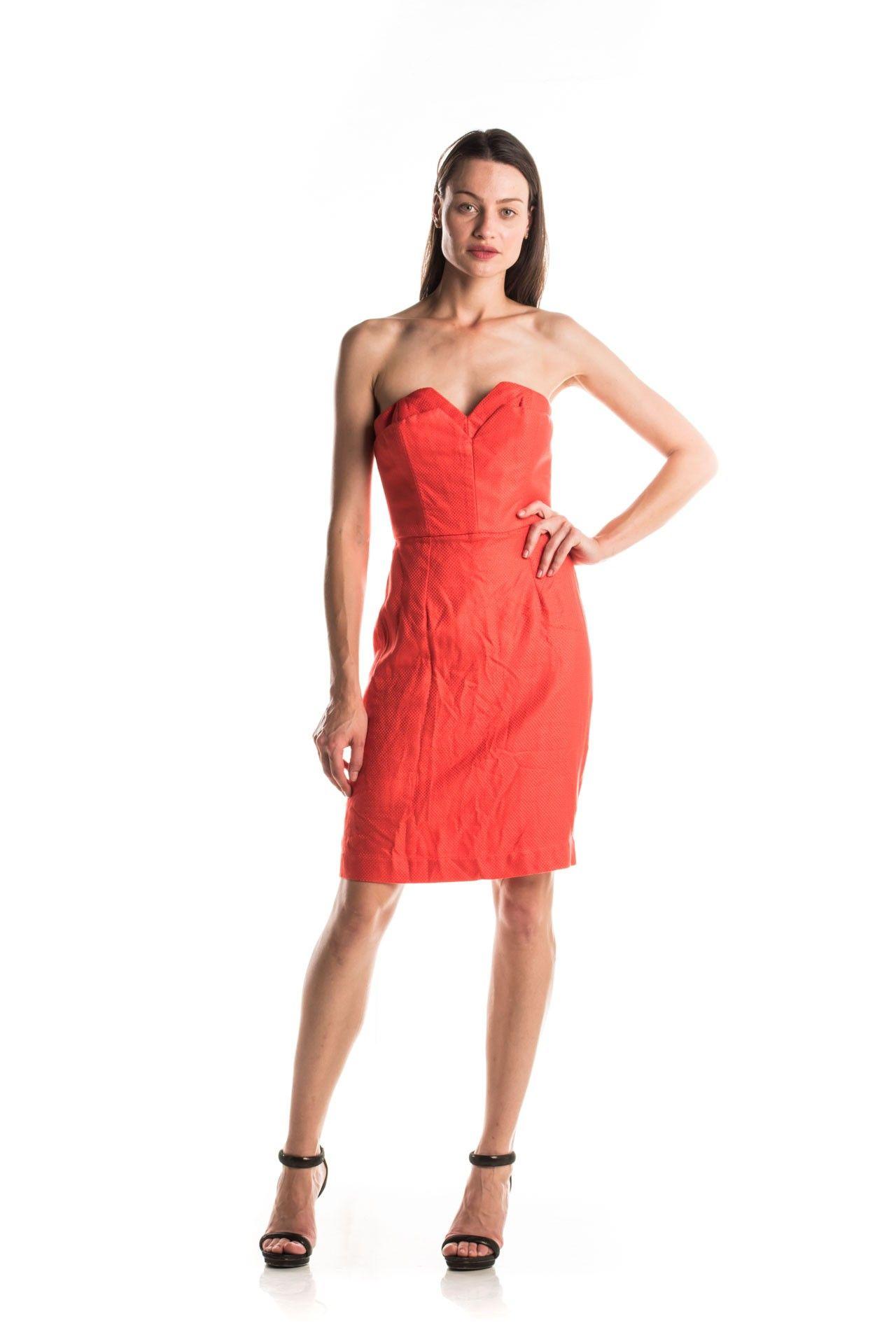Tufi Duek - Vestido Laranja Sobreposição - Foto 1