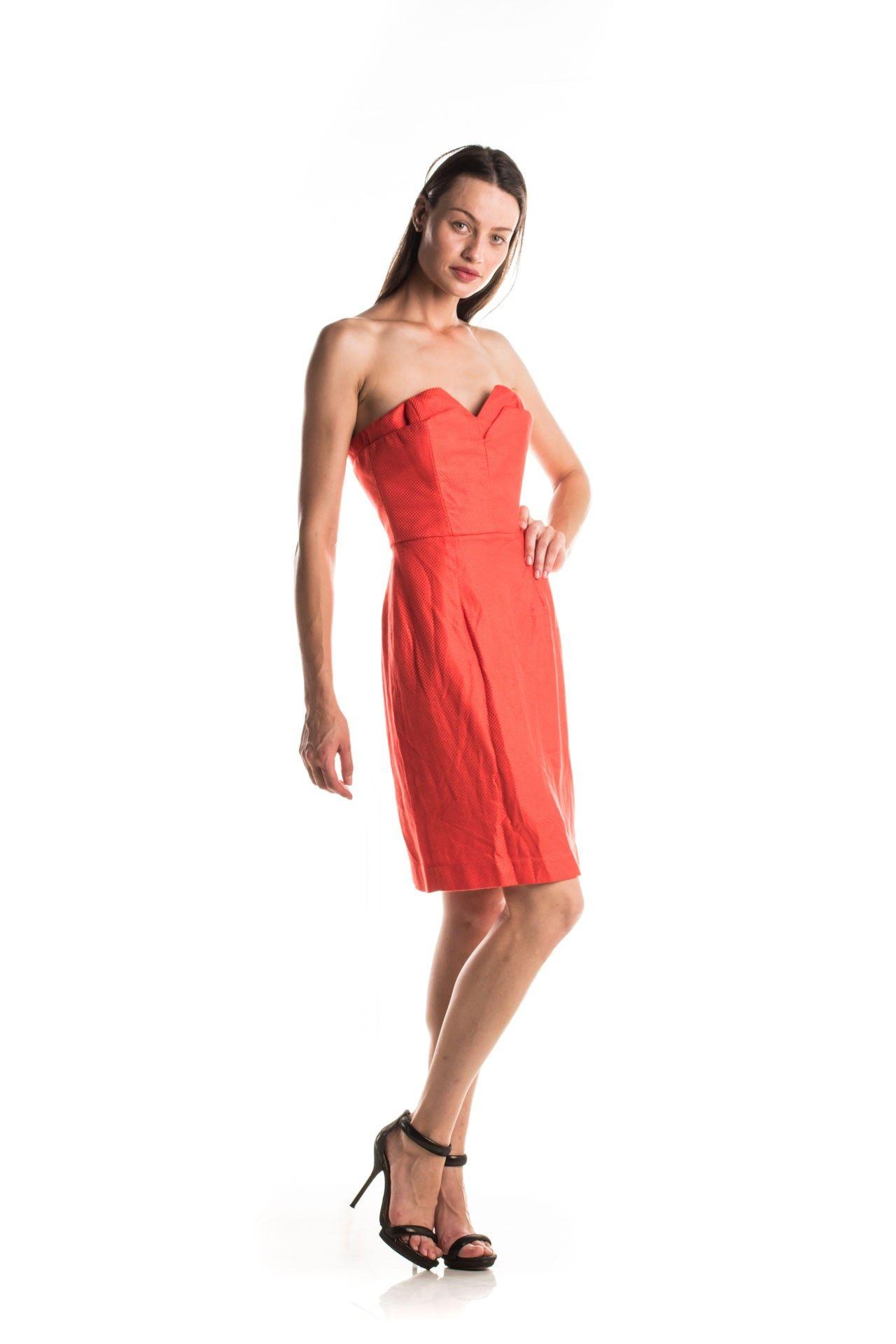 Tufi Duek - Vestido Laranja Sobreposição - Foto 4