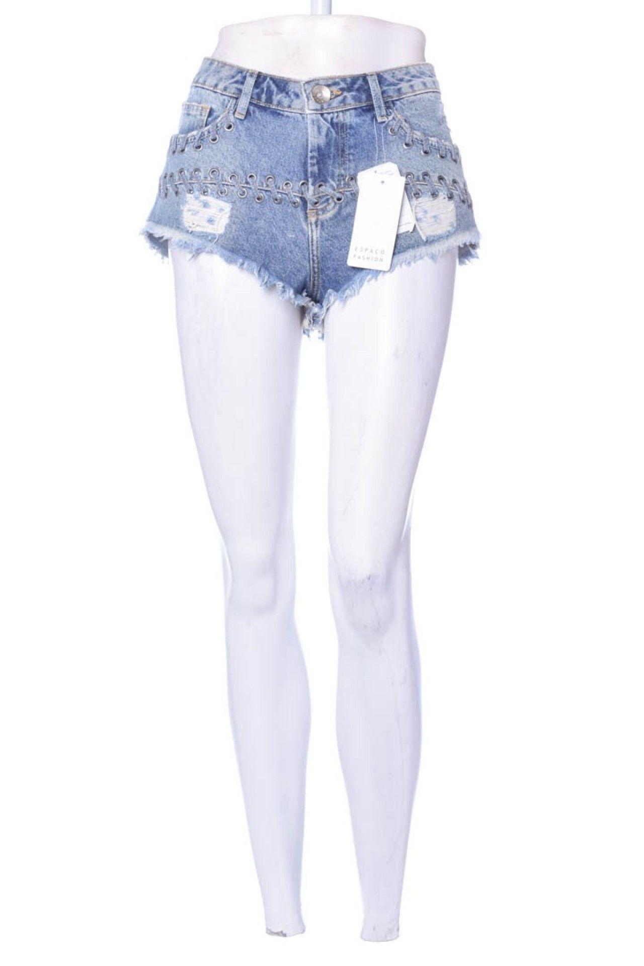 Espaço Fashion - Shorts Jeans Transpasse - Foto 1