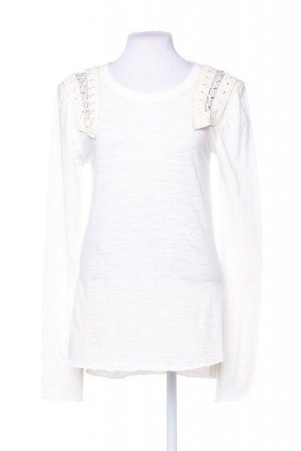 Blusa Branca Trançado Andrea Bogosian
