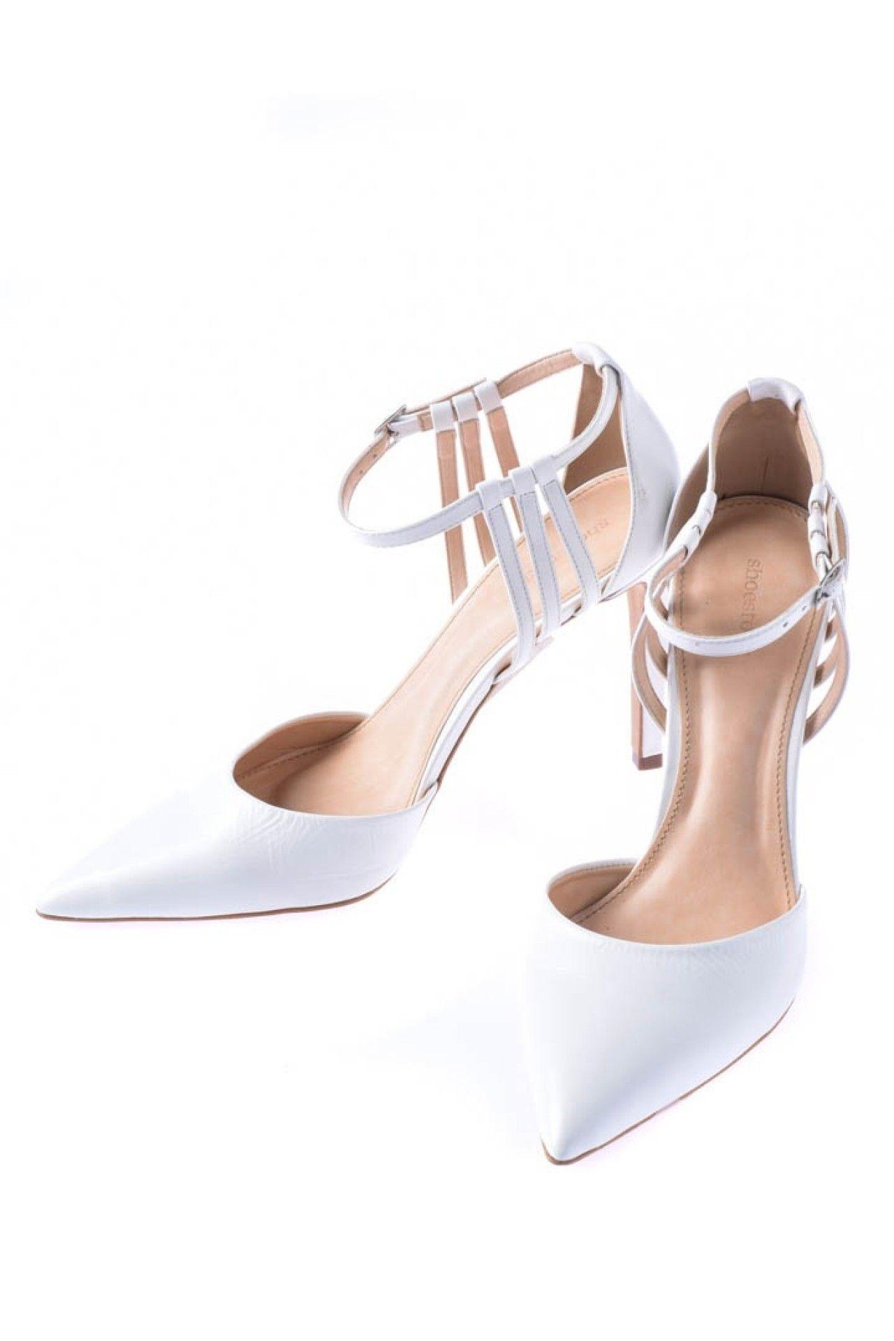 Shoestock - Scarpin Branco Tiras  - Foto 2
