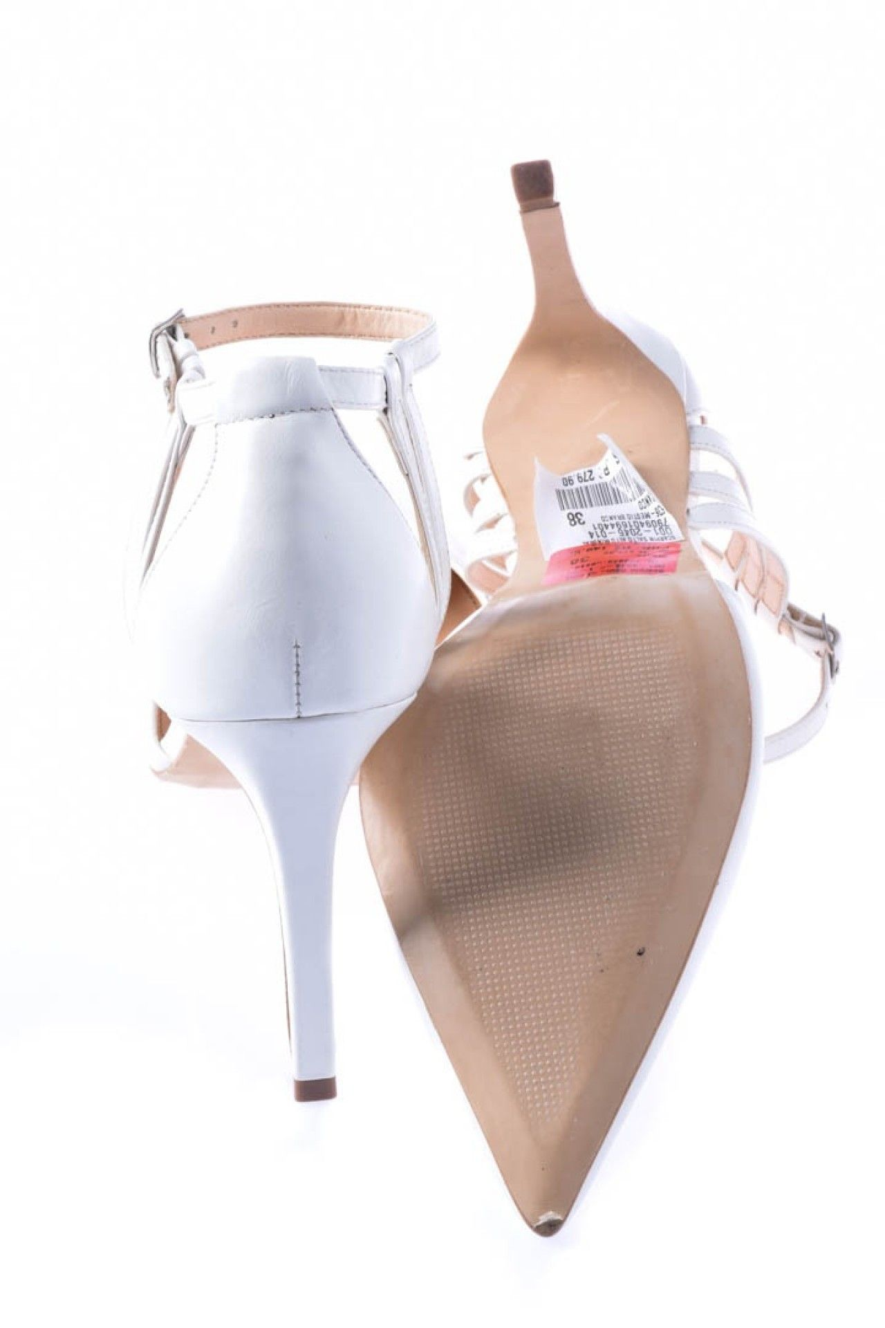 Shoestock - Scarpin Branco Tiras  - Foto 3