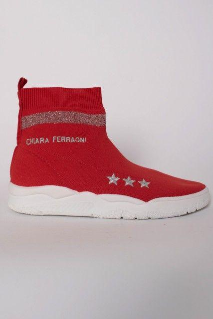 "Tênis Vermelho Meia <br><span Class=""ownerbazarname"">Rafa Santos </span> Chiara Ferragni"