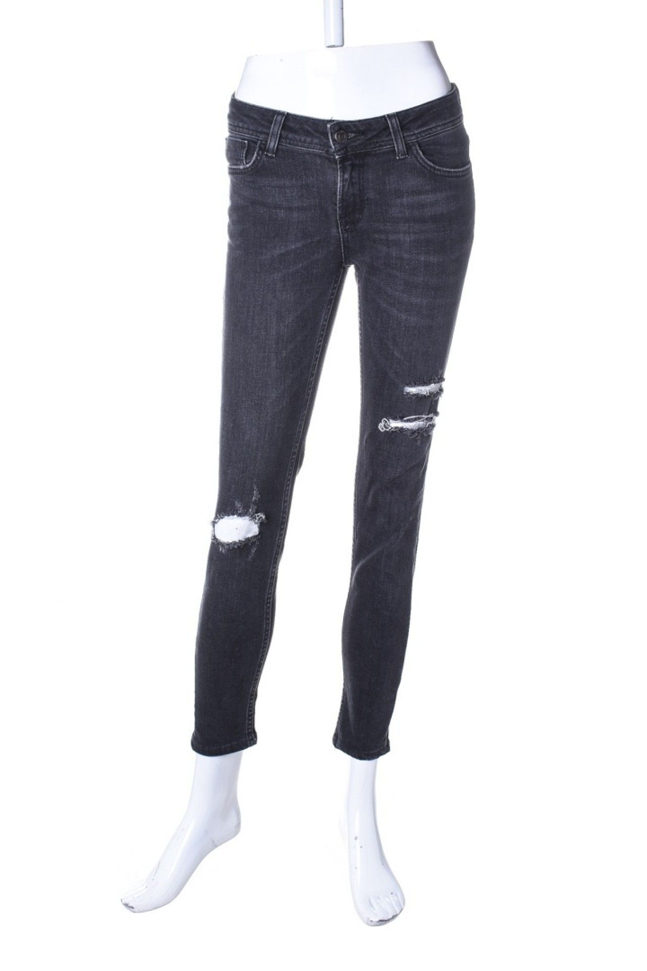 Zara - Calça Jeans Preta  - Foto 1