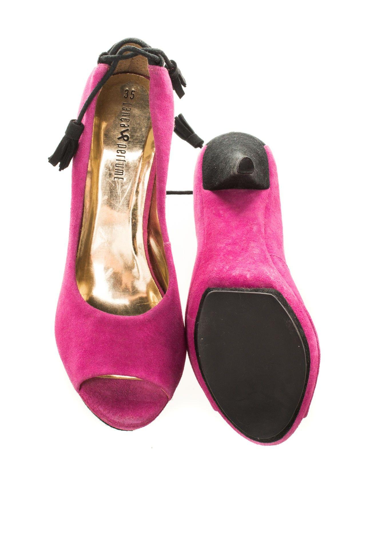 Lança Perfume - Sapato Rosa Salto - Foto 5