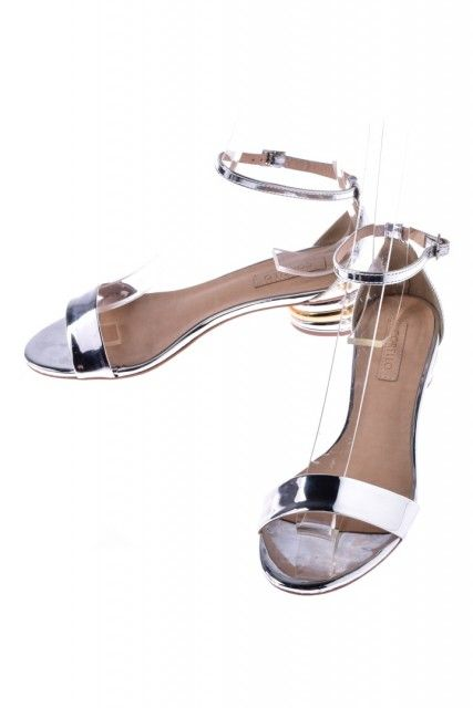 Sandália Prata Metalizada Corello