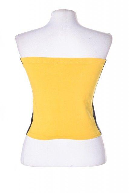 Top Amarelo Estampado Forever 21