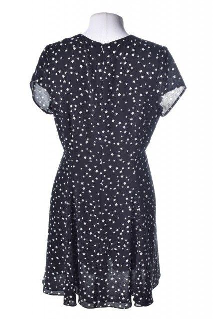 Vestido Preto Estrelado Karina Facci