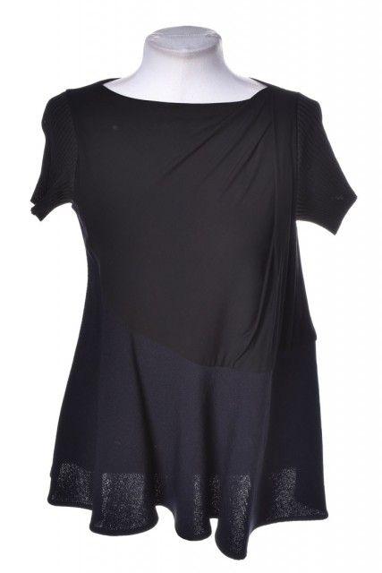 Blusa Preta Canelada  Balenciaga