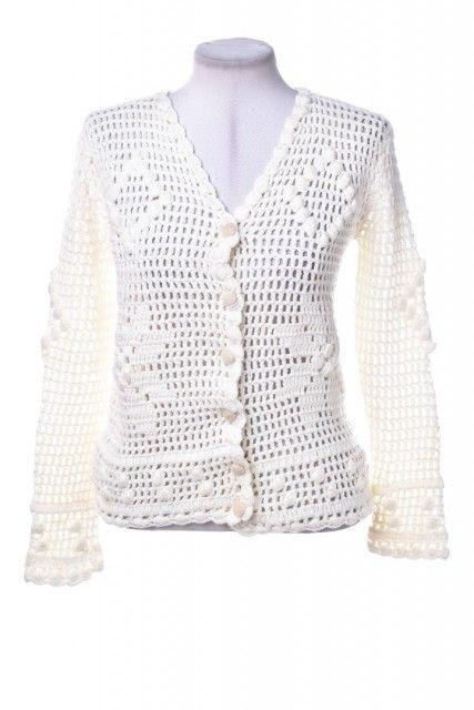 Casaqueto Crochê Branco  Mixed