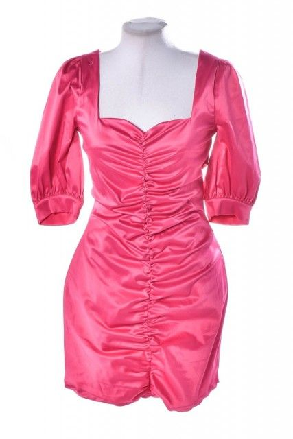 Vestido Rosa Liso Amaro