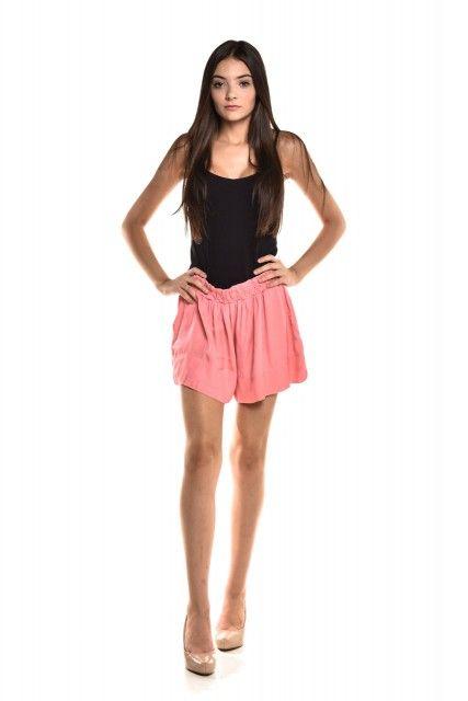 Shorts Elástico Rosa Magrella