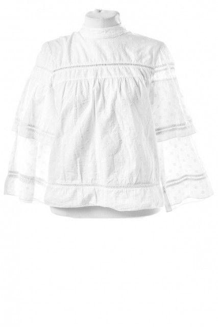 Blusa Branca Textura  Mixed