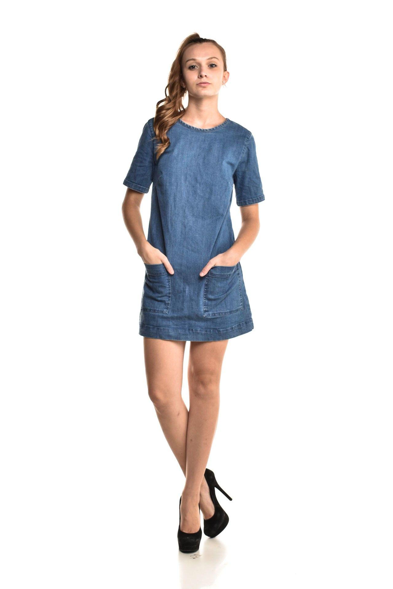 Forever 21 - Vestido Jeans Bolso - Foto 2