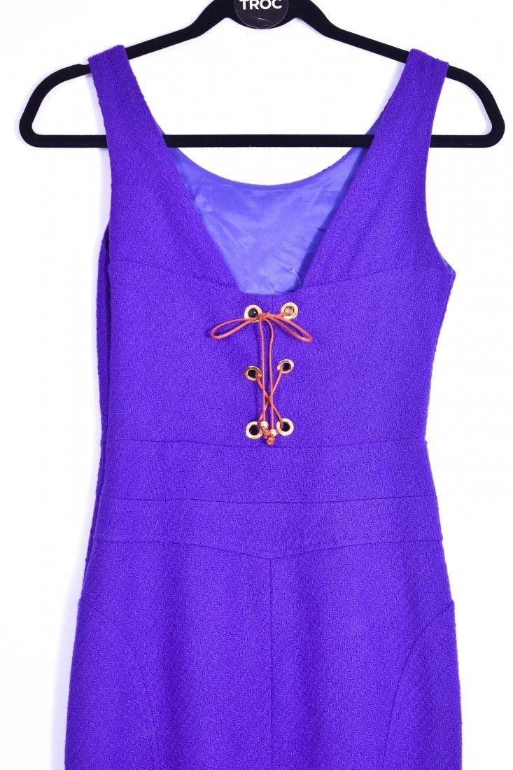 Thelure - Vestido Amarração Roxo - Foto 4