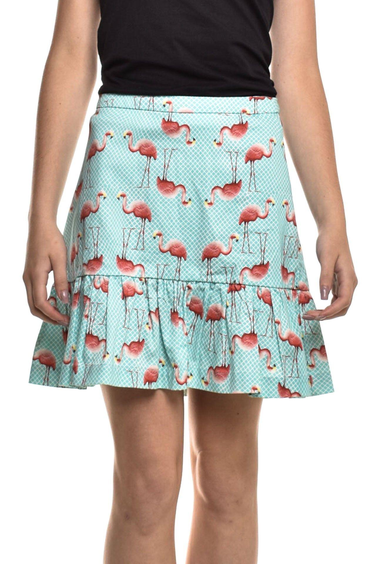 Iorane - Saia Estampa Flamingos - Foto 1