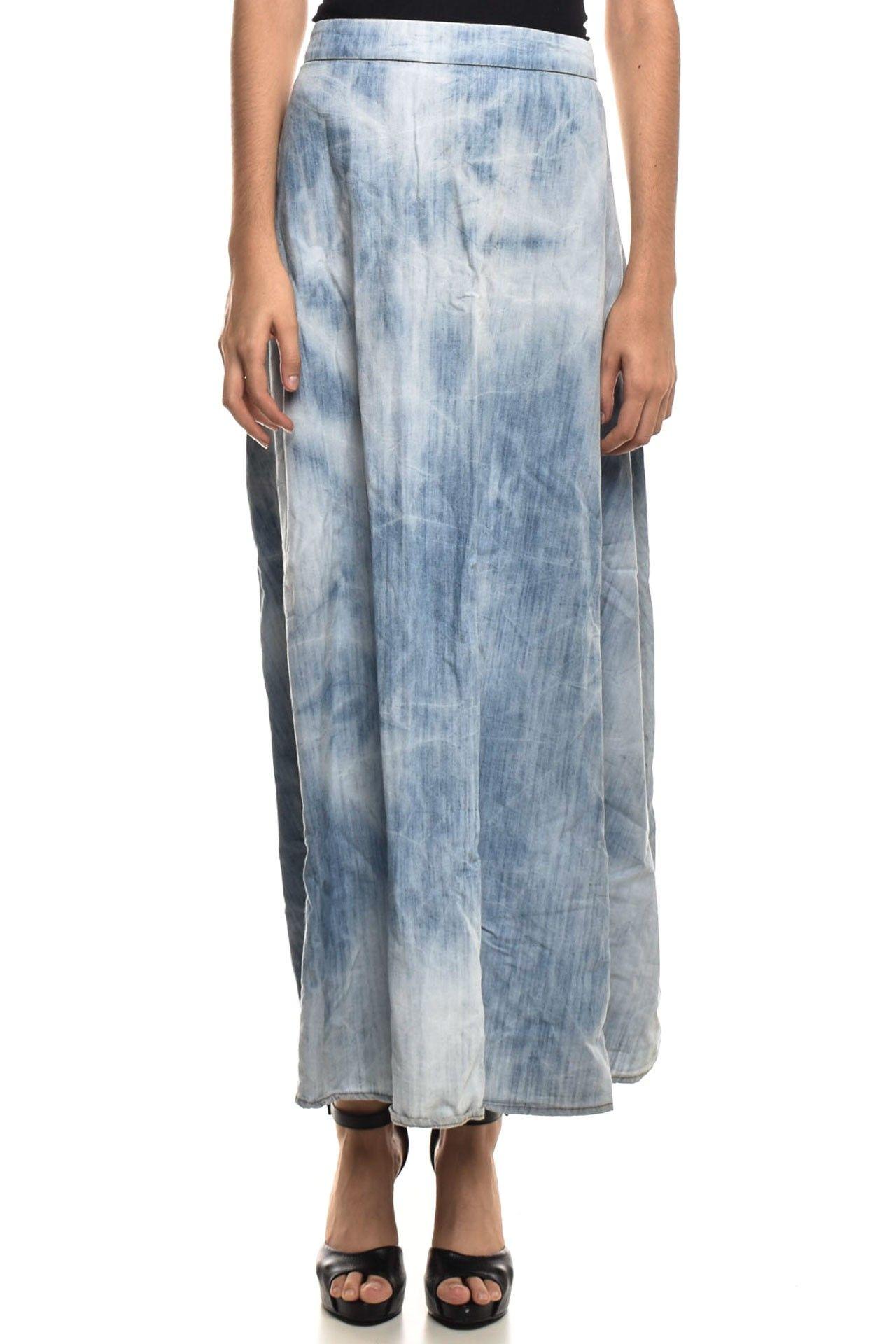 Farm - Saia Jeans Longa - Foto 1