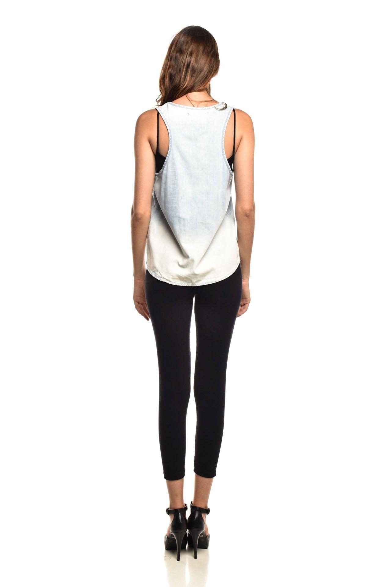 Shoulder - Blusinha Jeans Lavagem - Foto 4
