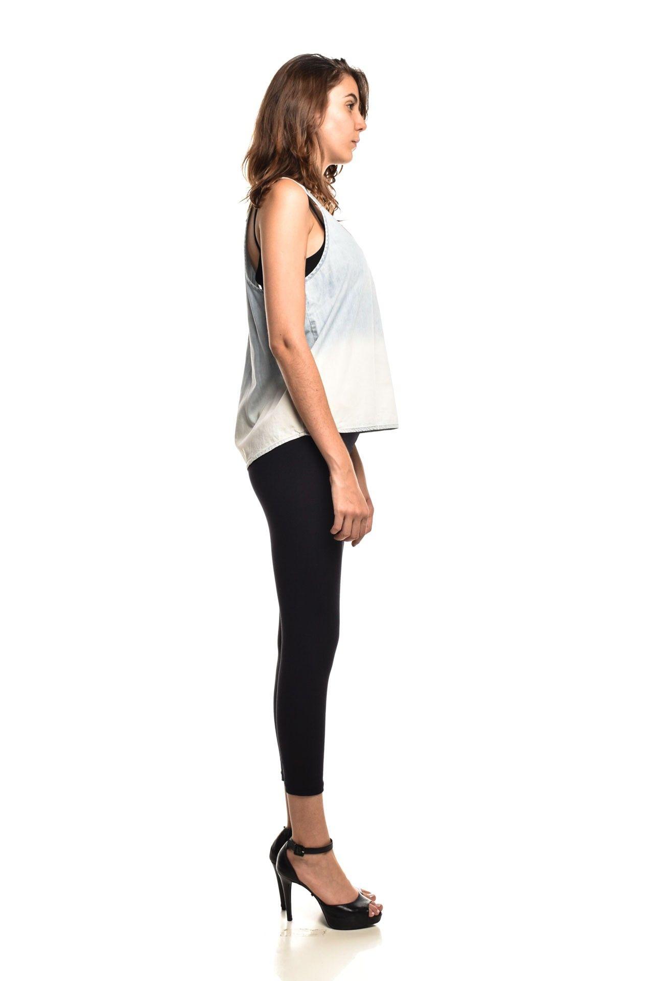 Shoulder - Blusinha Jeans Lavagem - Foto 3