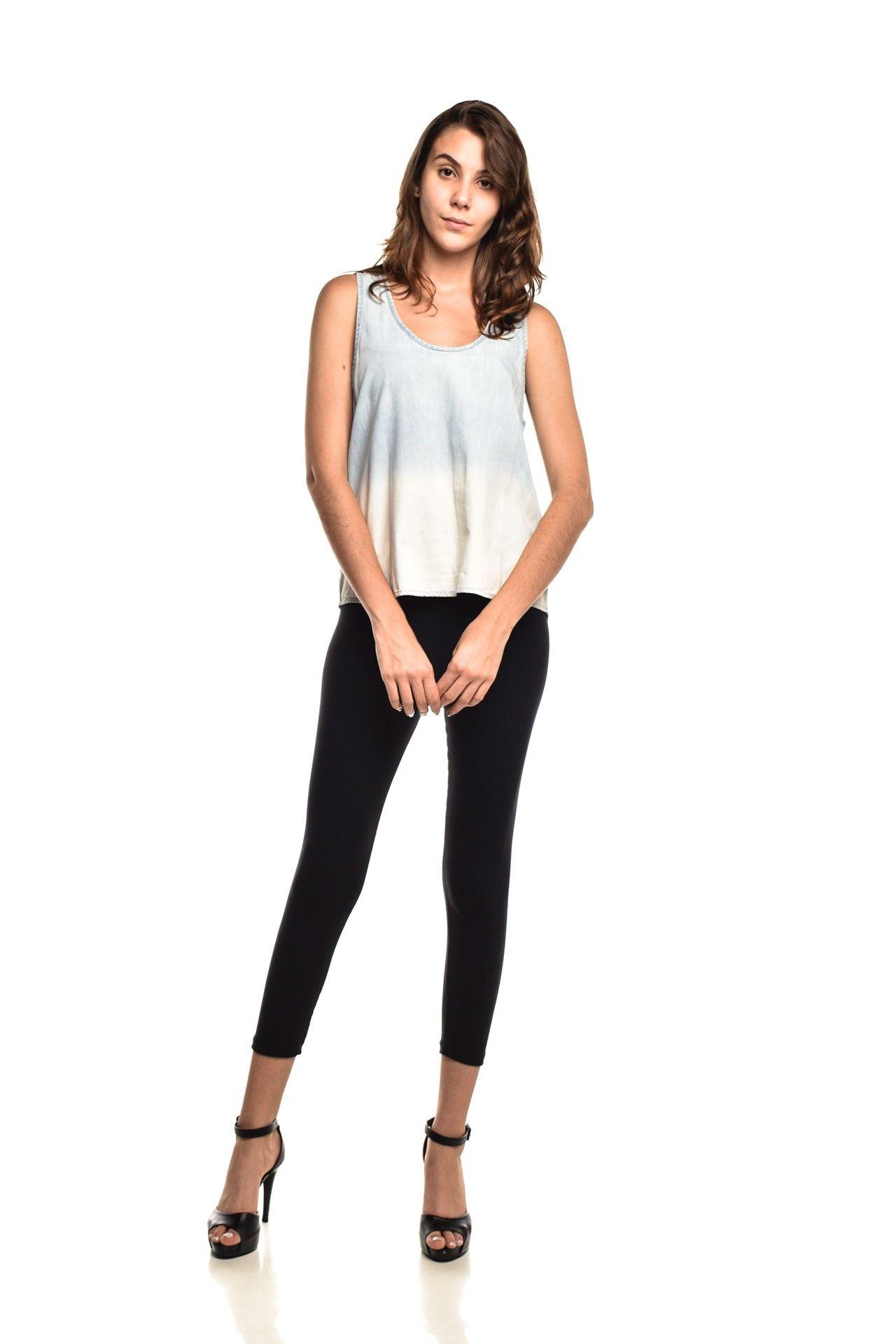 Shoulder - Blusinha Jeans Lavagem - Foto 2