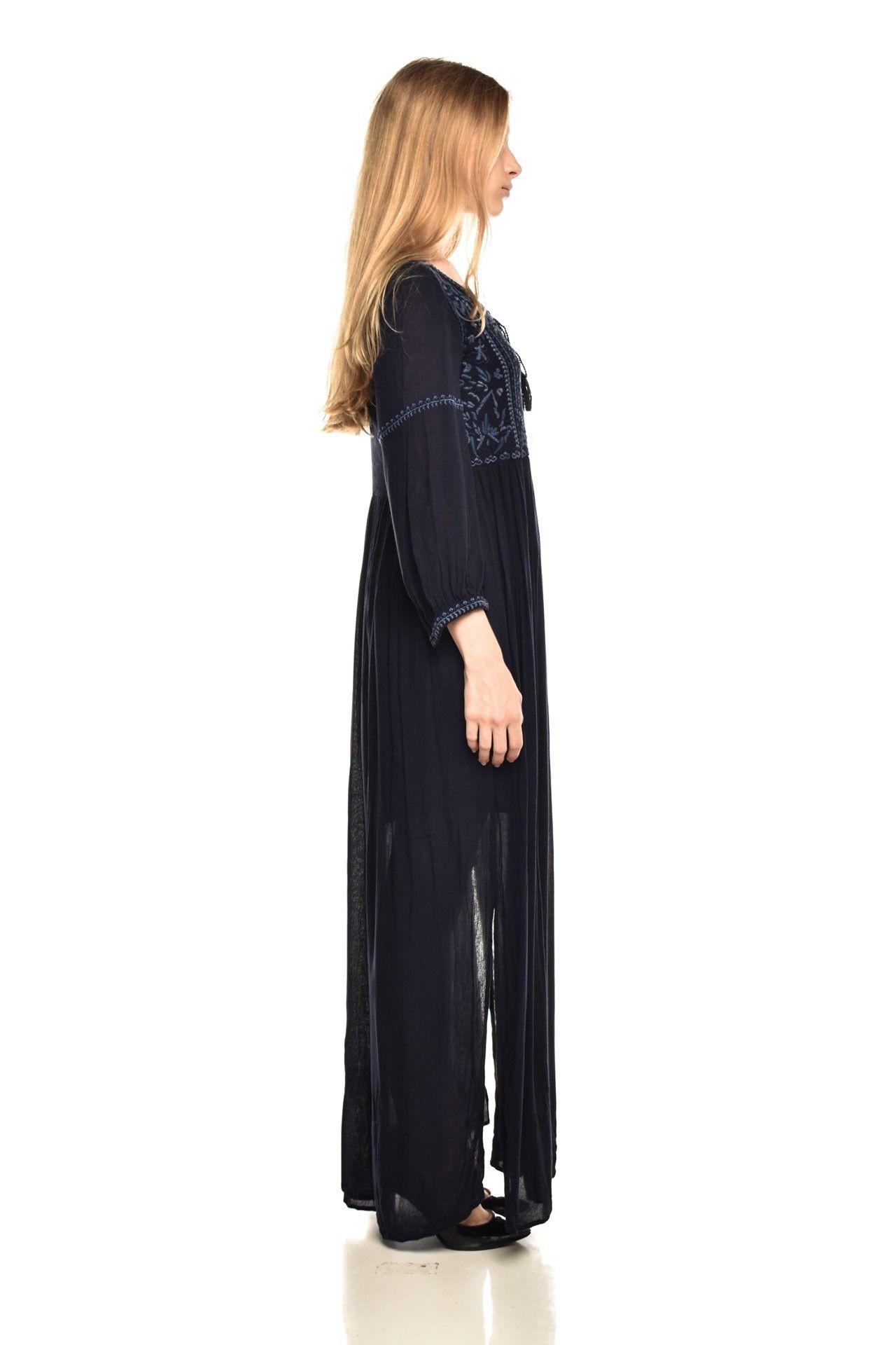 Zara - Vestido Navy Longo - Foto 3