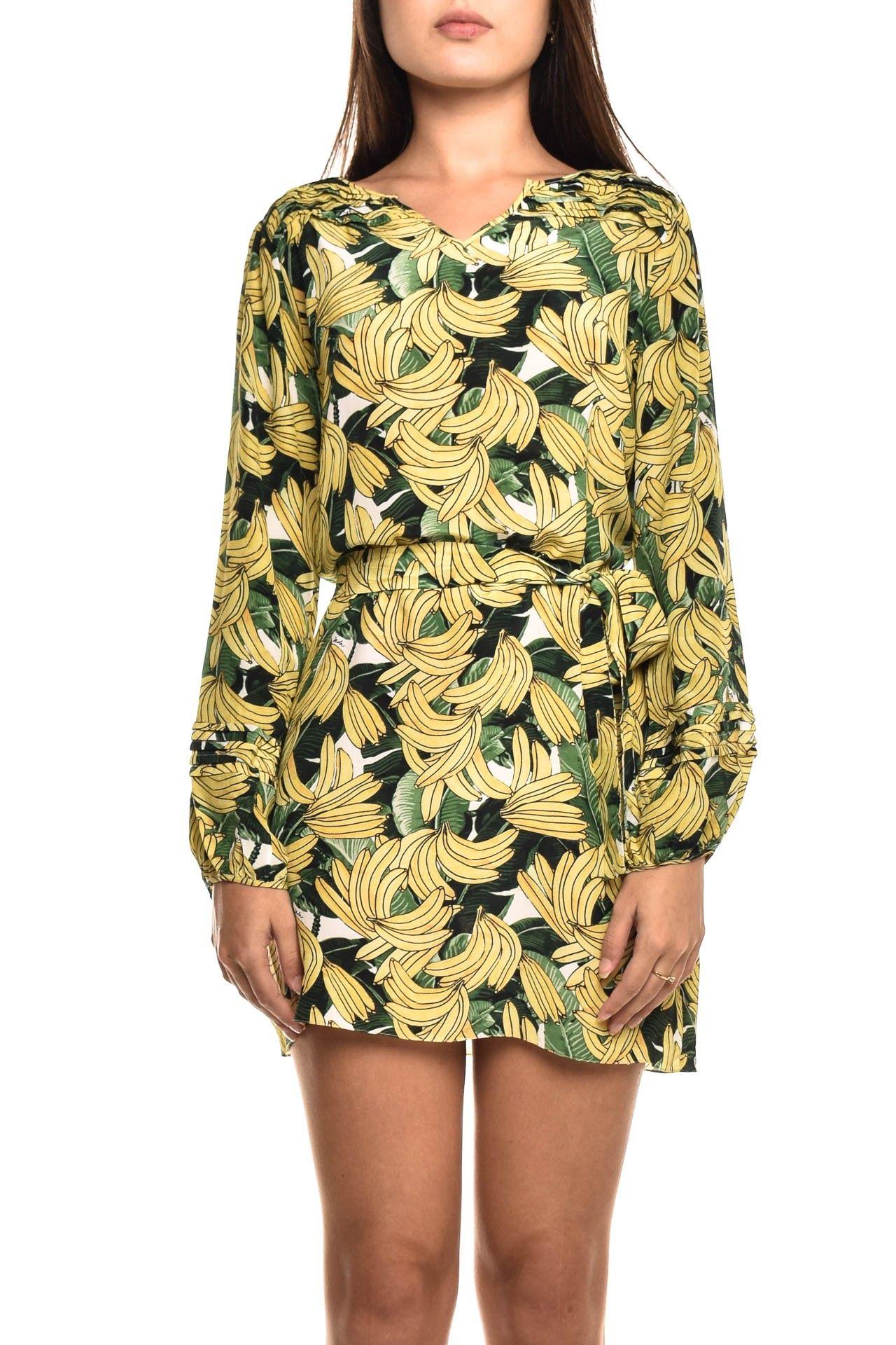 Daslu - Vestido Seda Bananas - Foto 1