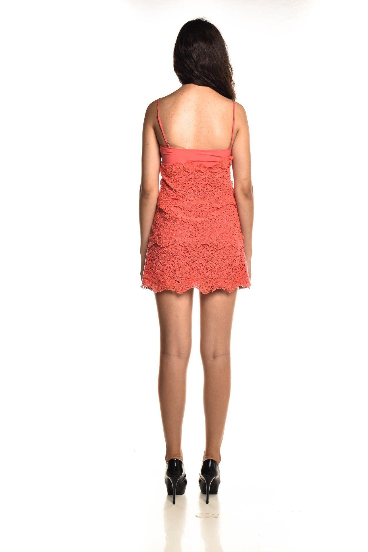 Daslu - Vestido Seda Renda - Foto 4