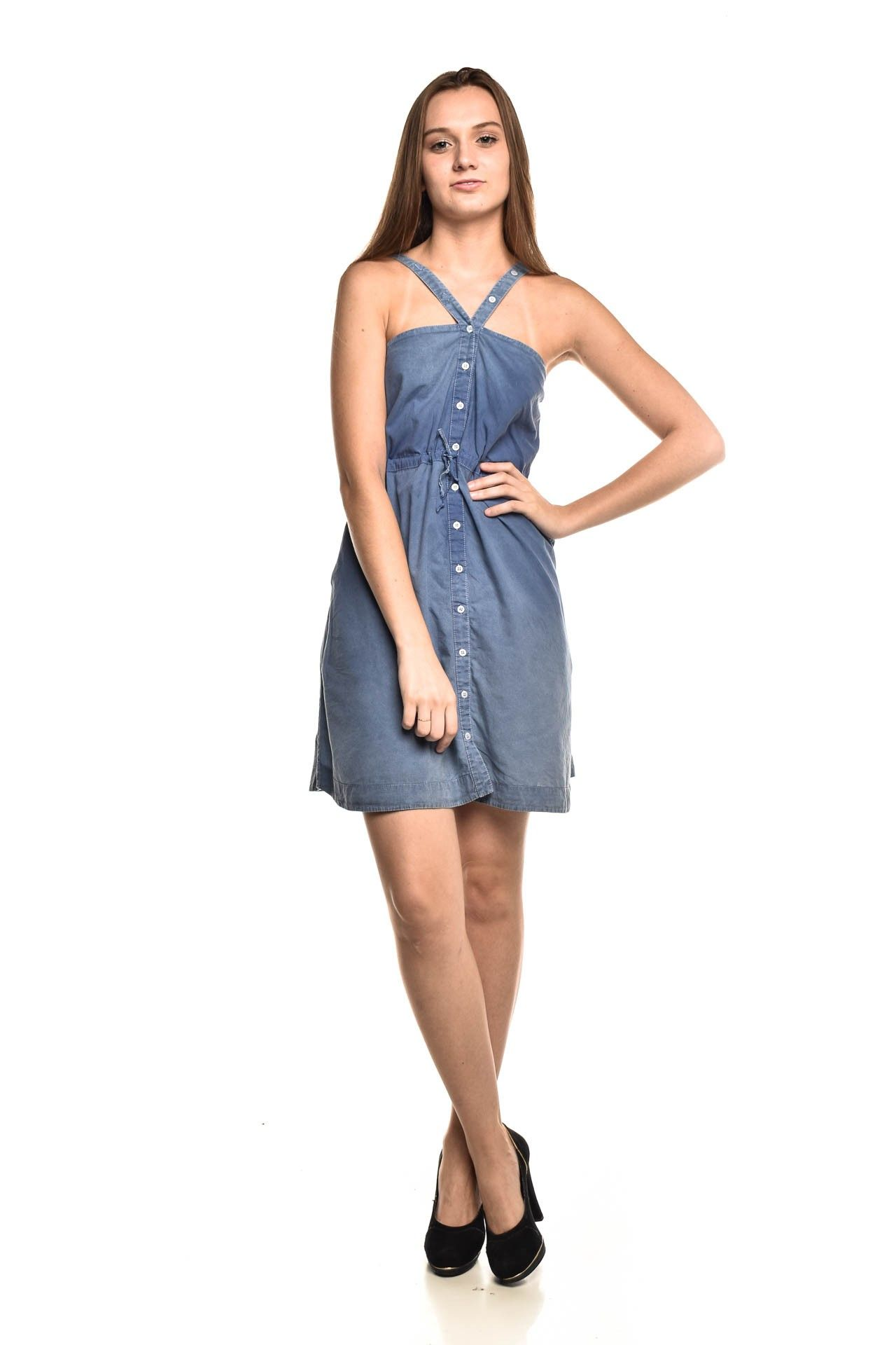 Osklen - Vestido Jeans Azul - Foto 2