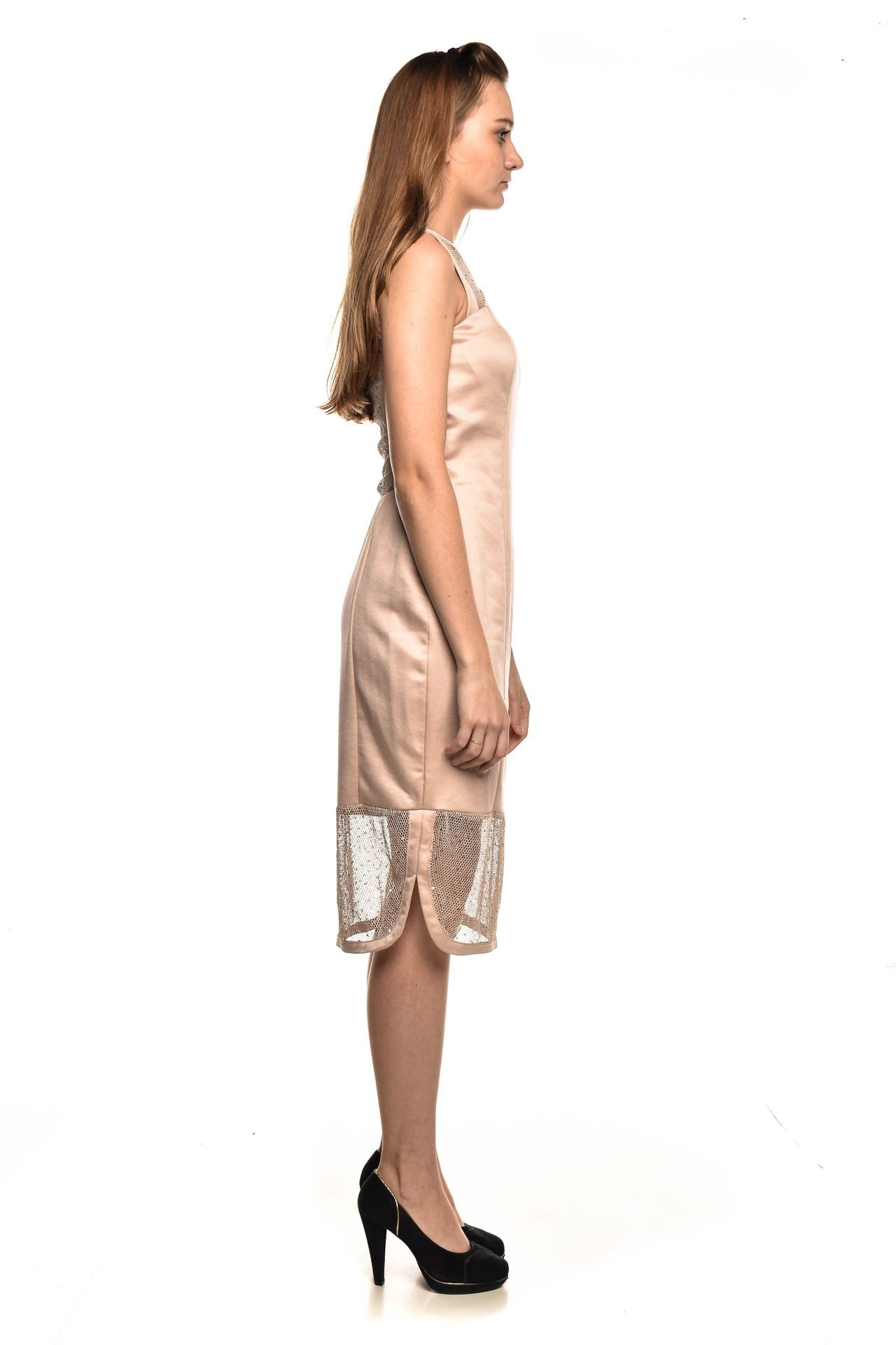 Strass - Vestido Rose Brilho - Foto 3