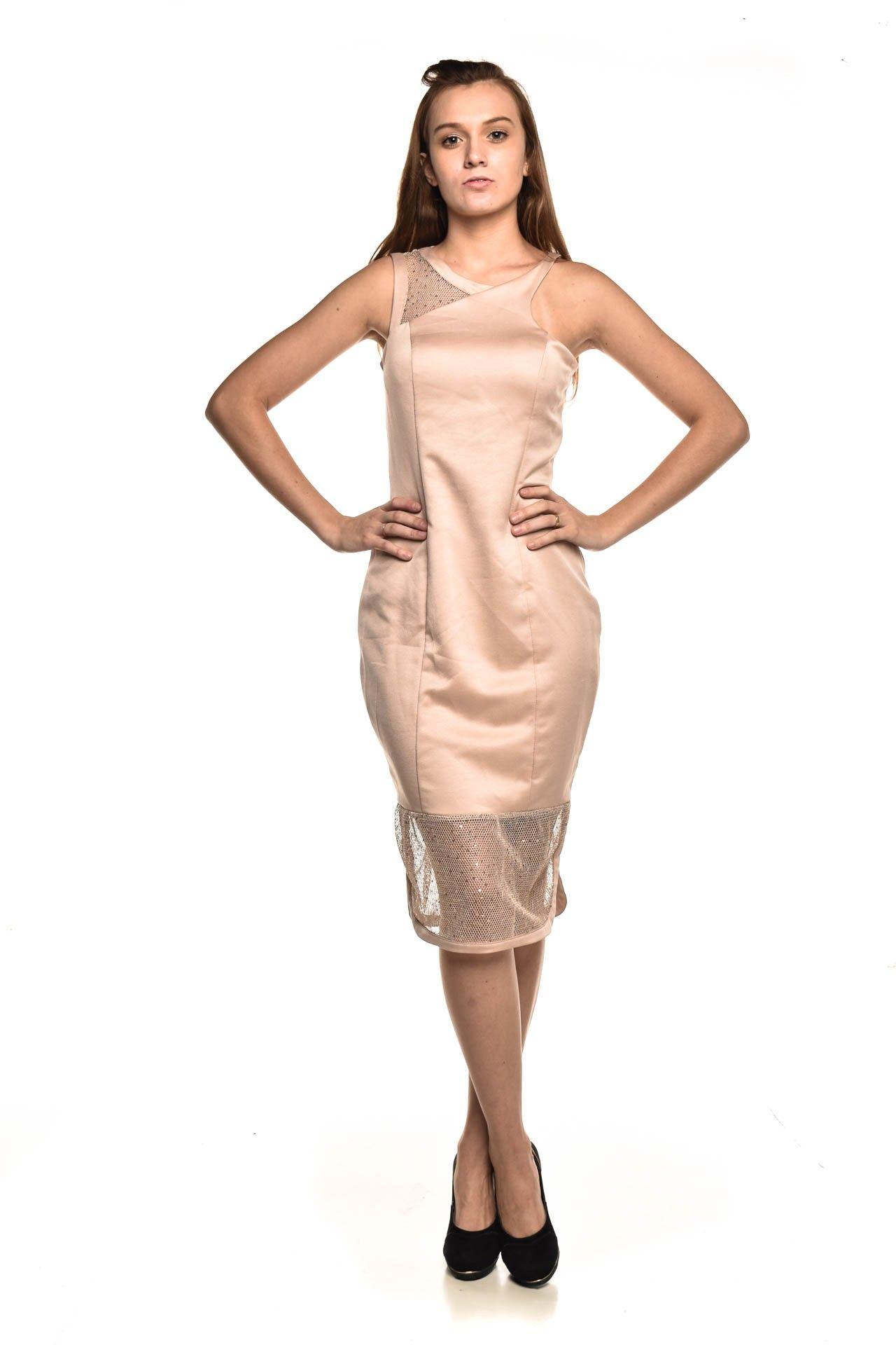 Strass - Vestido Rose Brilho - Foto 2